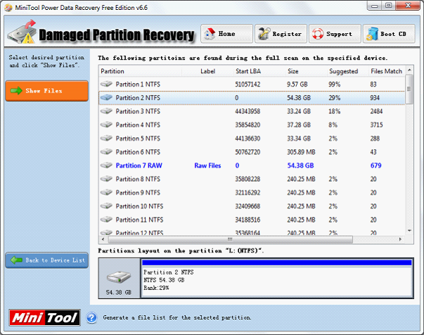 The best NTFS data recovery tool - MiniTool Power Data Recovery