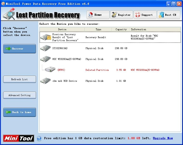 Lost partition recovery module of data recovery software free
